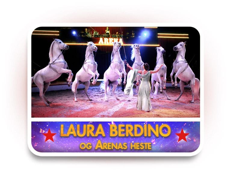 Laura Berdino og Arenas heste